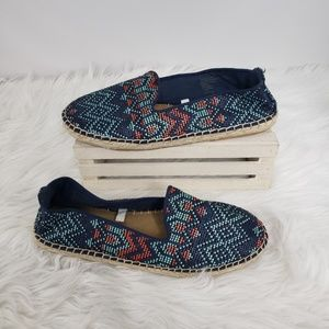 DV by Dolce Vita Shoes - DV Aztec Patterned Espadrilles Blue Red 9
